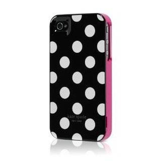 Designer Kate Spade White Polka Dot Black iPhone 4 Case of