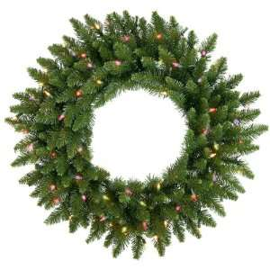 Camdon Fir Artificial Christmas Wreath   Multi Lights Home & Garden