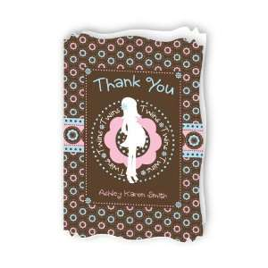 Twins Trendy Mommy   Personalized Baby Thank You Cards