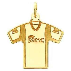 14K Gold NFL New England Patriots Football Jersey Charm