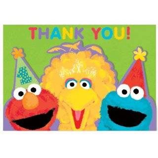 Sesame Street 1st Birthday Thank You Cards (8 count