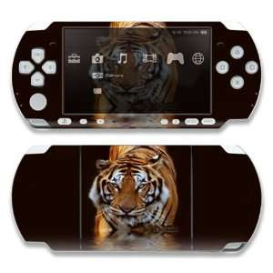 Sony PSP 1000 Decal Skin   Fearless Tiger