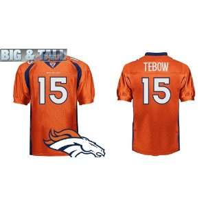 Big & Tall Gear   NFL Authentic Jerseys Denver Broncos #15 Tim Tebow