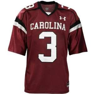com Under Armour South Carolina Gamecocks #3 Garnet Replica Football