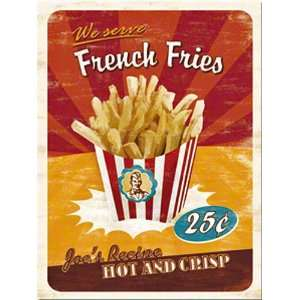 French Fries steel fridge magnet (na)