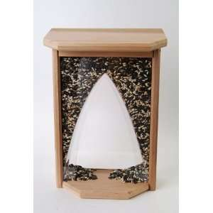 Casement Window Bird Feeder with Plexi Glass Arch