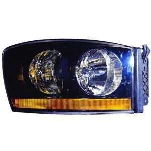 3500) Replacement Headlight Assembly (w/ Black Bezel)   Passenger Side