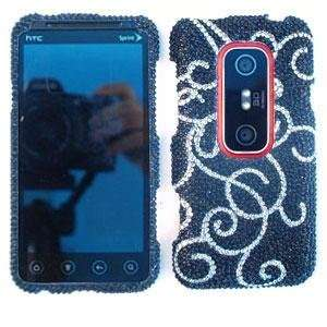 HTC EVO 3D Full Crystal Diamond / Rhinestone / Bling White