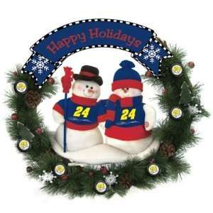 Jeff Gordon NASCAR Snowman Christmas Wreath (20) Sports