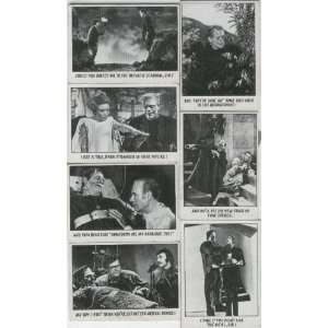 FUNNY MONSTER TRADING CARDS FRANKENSTEIN DRACULA KARLOFF SET OF 39