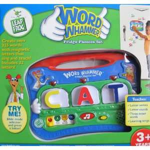 Leap Frog WORD WHAMMER FRIDGE PHONICS SET w LIGHTS & Magnetic LETTERS