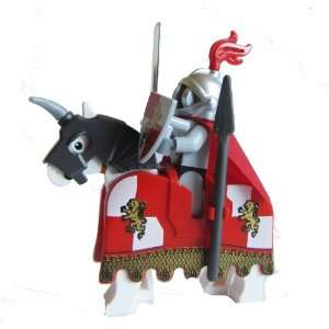 LEGO Royal Lion Knight Minifigure   Grill Helmet, Horse