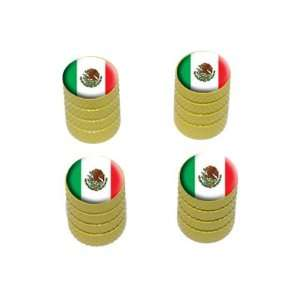 Mexico Mexican Flag   Tire Rim Wheel Valve Stem Caps