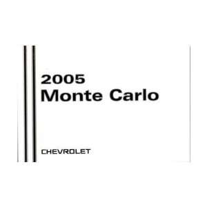 2005 CHEVROLET MONTE CARLO Owners Manual User Guide