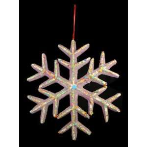Heaven Oversized Purple & White Snowflake Cookie Christmas Ornament