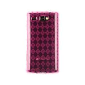 Phone Protector Cover Case Hot Pink Checkered For Samsung Focus Flash