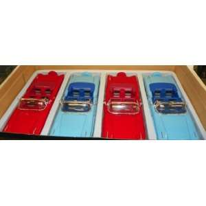 24 Scale Diecast 1958 Chevy Impala Convertible BOX of 4 Cars