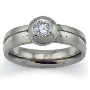 Stainless Steel Ring with CZ   Size 6 West Coast Jewelry Jewelry