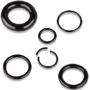 Black Titanium Anodized over 316L Surgical Steel Circular Segment Ring