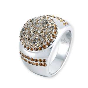 Astrona Swarovski Crystal Ring   Gold Jewelry