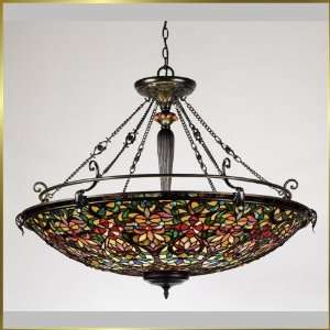 Tiffany Chandelier, QZTF1917VB, 8 lights, Antique Bronze, 40 wide X