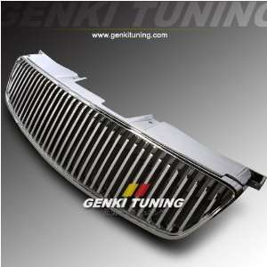 Upper Bumper Front Hood Chrome Vertical Grill Grille 05 06 Automotive