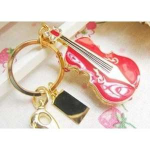 8GB Small Red Violin Style USB Flash Drive