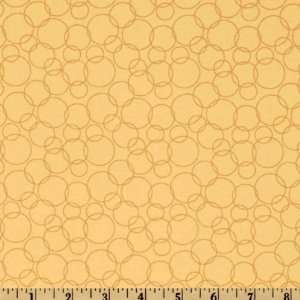44 Wide Having A Baby Circles Cream Fabric By The Yard