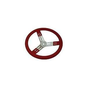 15 Aluminum Racing Steering Wheel   Red Automotive