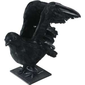 Black Wings Out Crow Halloween Prop Patio, Lawn & Garden