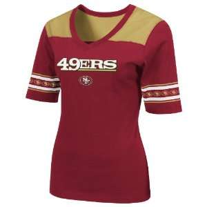 NFL San Francisco 49Ers All You Got 1/2 Sleeve V Neck Tee