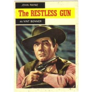 1958 Topps TV Westerns Trading Card #52 The Restless Gun Vint Bonner