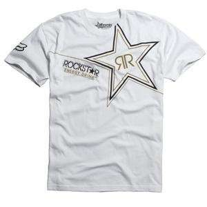 Fox Racing Rockstar Golden T Shirt   X Large/White