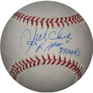Clark Autographed/Hand Signed Official MLB Baseball with The Ripper