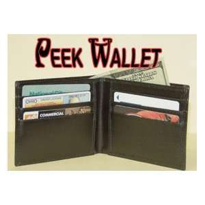 Peek Wallet Leather Money Trick Close Up Magic Toy