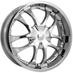 22 CHROME CENTER CAP RIM WHEEL SHIFT STRADA A ARM