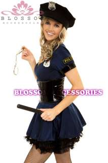 896 Ladies Police Officer Uniform Fancy Costume & Hat