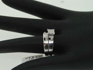 MENS LADIES WHITE GOLD FINISH DIAMOND MATCHING WEDDING TRIO SET