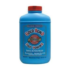 Gold Bond Foot Powder, Medicated, Maximum Strength 4 oz
