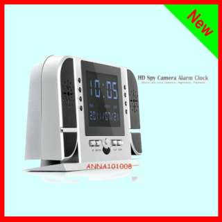 HD Spy Camera Alarm Clock (Motion and Voice Detection, Night vision
