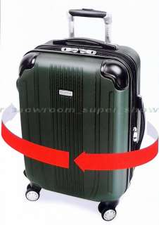 Piece Luggage Set 20 & 27 Rolling Hard side Suitcases Green