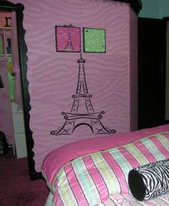 Big Eiffel Tower Paris Girls Kid Room Wall Decal Decor