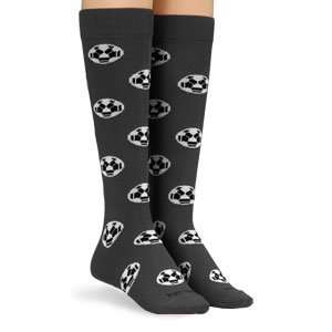 Womens proDRI Soccer Ball Print Socks Black/Medium
